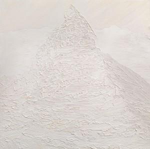 Small White Matterhorn Oil on panel 12 x 12 in / 30 x 30 cm (C)