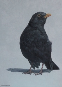"Faye Anderson ""Bert""   8""x6"" (20cmx15cm),  Egg Tempera Courtesy of Cameron Contemporary Art"