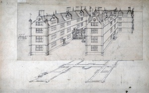 John Thorpe 'IT' House from the Thorpe Album c. 1580, Pen and ink, 4310 x 280mm Courtesy of Sir John Soane's Museum