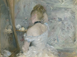 Berthe Morisot Woman at Her Toilette, 1875-80 Oil on canvas 60.3 x 80.4 cm © The Art Institute of Chicago, Illinois, Stickney Fund, 1924.127