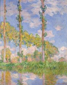 Claude Monet Poplars in the Sun, 1891 Oil on canvas 93 × 73.5 cm The National Museum of Western Art, Matsukata Collection, Tokyo P.1959-0152 © National Museum of Western Art, Tokyo