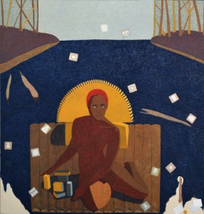 Mequitta Ahuja Journeyman II, 2015 Oil on canvas 213.36 x 203.2cm