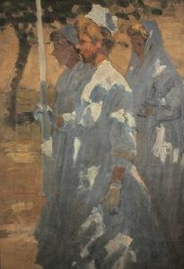 Corpus Christi Procession - c. 1908 © Aloysius O'Kelly Courtesy Crawford Art Gallery / AIB Collection