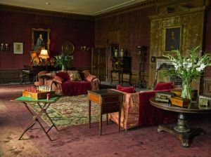 A View of the Drawing Room.   This elegant room had not been used for about fifty years and workmen were needed to prise open the shutters which had warped.