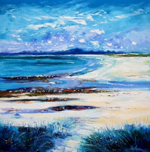 High Summer on Isle of Berneray.                    oil on canvas.   30 x 30 inches.