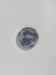 Blue-glazed Splashed Stoneware Dish Jin period, 12th - 13th century Jun kilns, Henan province Diameter: 18.5cm