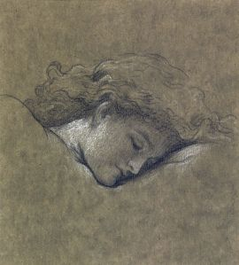 Frederic, Lord Leighton Study for Flaming June ESTIMATE 40,000 - 60,000 This the only known head study for one of the most famous 19th century pictures.  It used to hang in an ante-room to the Duchess's bedroom and was last publicly seen in an art magazine in 1895. It will be auctioned in London on 15th July, 2015
