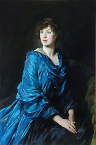 Lot 224 GLYN PHILPOT, R.A. 1884-1937 PORTRAIT OF MARGARET (PEGGY) CREWE-MILNES, MARCHIONESS OF CREWE Signed and dated 1917 oil on canvas 120 by 79cm. 47 by 31in. Estimate : £10,000-15,000