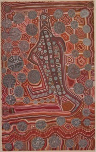 'Yumari' Uta Uta Tjangala (c. 1926–1990), Pintupi people, Papunya, Northern Territory, 1981,  Acrylic on canvas.  National Museum of Australia