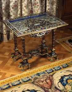 Table, c 1710-1720; Augsburg, Germany; wood, metal, tortoiseshell;  Waddesdon, The Rothschild Collection (The National Trust) Bequest of James de Rothschild, 1957; acc.no. 2227.1.  Photo: John Bigelow Taylor © The National Trust, Waddesdon Manor