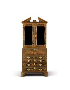 A George II Green Japanned Bureau Bookcase England circa 1730, attributed to Giles Grendey £60,000-80,000 [Lot 266] http://www.dreweatts.com/cms/pages/lot/13873/266