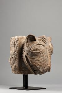 An Anglo-Saxon lion head corbel,  England, Mid-11th Century.  Sam Fogg