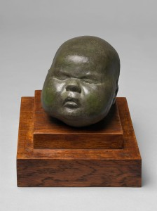 Baby's Head, 1926, Cast concrete,  unique, ref. LH-35, 10.16 x 10.16 x 15.24 cms (4 x 4 x 6 in).  Courtesy of Osborne Samuel Gallery
