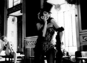 Anouk Aimee in Jacques Demy's Lola (Nantes) (1)  Copyright Raymond Cauchetier, courtesy James Hyman Gallery, London