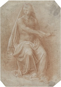 Drapery Study for a Seated Figure by Cesare Magni.   Martin Hirschboeck