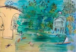 Raoul Dufy 1877-1953 Les Canotiers, la Marne, 1935 Signed lower right Oil on canvas 50 x 73 cm, 19.7 x 28.7 in Connaught Brown