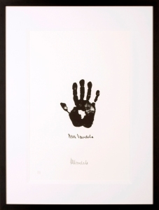 Nelson Mandela Hand of Africa signed lithograph Belgravia Gallery