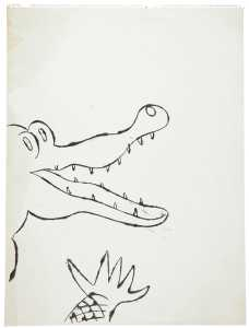 Andy Warhol, 'Crocodile',  Signed and dated, 1954-1956 Haynes Fine Art of Broadway