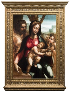 Holy Family with the Infant Saint John the Baptist,  by Giovanni Antonio Bazzi, known as Il Sodoma.  Coll and Cortes