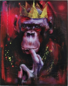 """Ego"" by Julie Needham.  Mixed media on board 122 x 76cm.  Woodbine Contemporary Arts."