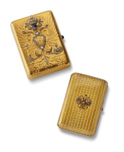 Imperial Presentation Cases by Carl Faberge.  St Petersburg, c1910.  Wartski, London