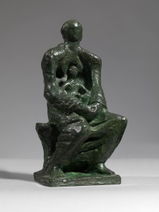 Madonna and Child, 1943, bronze,  unique ref. LH1- 222, 18.4 x 8 x 7.5cm (7 1-4 x 3 1-4 x 3in).  Courtesy of Samuel Osborne Gallery