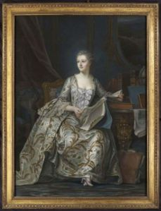 Life-size portrait of Madame de Pompadour, pastels, circa 1830,  Nicholas Price Fine Art.  Courtesy Olympia International Art & Antiques Fair.