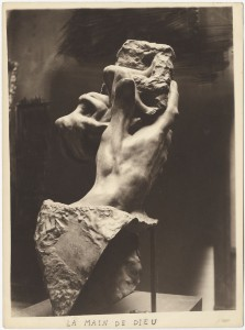 Pierre Choumoff for Auguste Rodin The Hand of God c.1915 silver gelatin print 9 3/8 x 6 7/8 in / 23.8 x 17.5 cm Courtesy of Waddington Custot Galleries