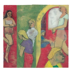 R.B. Kitaj, Sighs from Hell, 1979. Pastel and charcoal on joined sheets of paper.  Thomas Gibson Fine Art