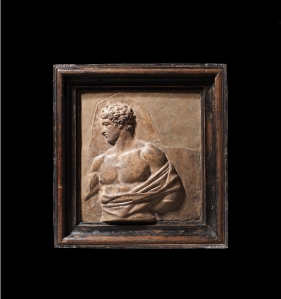 Roman Relief Fragment Depicting Theseus, 1st Century AD, terracotta.  Charles Ede