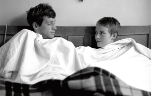 Jean-Paul Belmondo and Jean Seberg in a still from Godard's from A Bout de Souffle (2)  Copyright Raymond Cauchetier, courtesy James Hyman Gallery, London