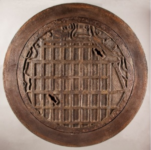 The Map of Chandigarh, Manhole Cover, Designed by Le Corbusier (1887-1965)  French, Cast Iron, Early 1950s,  Peter Petrou
