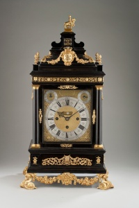 The Medici Tompion, circa 1696, ebony and gilt brass mounted Grande Sonnerie table clock, presented by William III as a gift to Cosimo de Medici, Carter Marsh & Co.