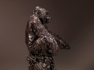 JONATHAN KENWORTHY (b. 1943) SEATED SILVERBACK, 2007 BRONZE, 1 of 9 39.4 cm (15 ½ in.) high, including base 18.4 cm (7 ¼ in.) wide, including base Tomasso Brothers Fine Art