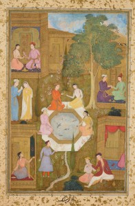 Mir 'Ali Sir Nava'l, Seven Couples in a Garden, c. 1510. Royal Collection Trust / copyright Her Majesty Queen Elizabeth II 2014