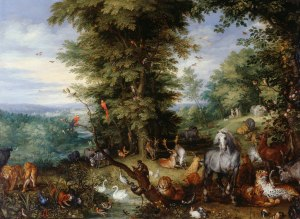 Jan Brueghel the Elder, Adam and Eve in the Garden of Eden, 1615. Royal Collection Trust / copyright Her Majesty Queen Elizabeth II 2014