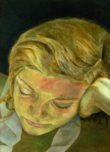 Lucian Freud,  Girl Reading, 1952 © The Lucian Freud Archive / Bridgeman Images