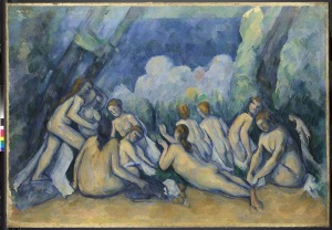 Paul Cézanne  Bathers (Les Grandes Baigneuses)  about 1894-1905  © The National Gallery, London