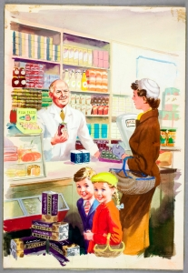 Shopping with Mother, 1958,  Harry Wingfield