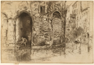 JAMES MCNEILL WHISTLER 1834-1903 The Two Doorways, 1879-1880 Etching and drypoint | 8 x 11 1/2 inches (20.2 x 29.2 cm) Courtesy of The Fine Art Society Plc