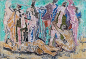 Bathers on the Beach (Large Bathers), c. 1961 Oil on board, 103 x 150 cm Private collection, Rome