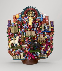 Tree of Life - a traditional Mexican clay sculpture, presented to The Queen by the President of the United Mexican States, 2015 Royal Collection Trust (c) Her Majesty Queen Elizabeth II, 2015
