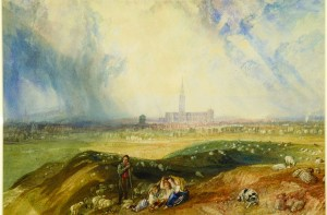Salisbury from Old Sarum c.1827-1828 Watercolour JMW Turner © The Salisbury Museum