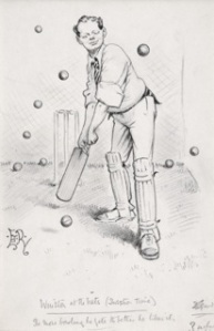 WINSTON AT THE NETS (QUESTION TIME) THE MORE BOWLING HE GETS THE BETTER HE LIKES IT EDWARD TENNYSON REED (1860-1933)