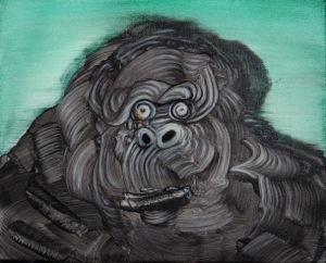 MIMEI THOMPSON Ape 2013 Oil on canvas 24 x 30 cm