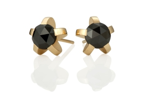 Earrings with black diamonds SARAH HERRIOT DESIGN (Part One)