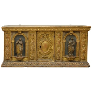 Kate Thurlow Late 16th Century Italian Giltwood Reliquary Box