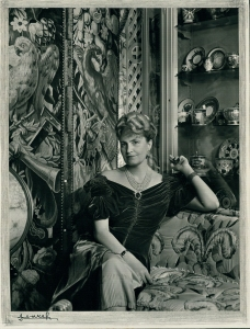 Marjorie Merriweather Post Davies in the Russian Room at Tregaron, Washington DC, c1950 Yousuf Karsh