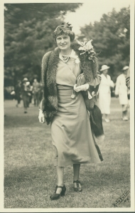 Marjorie Merriweather Post at the Saratoga Races, 1930