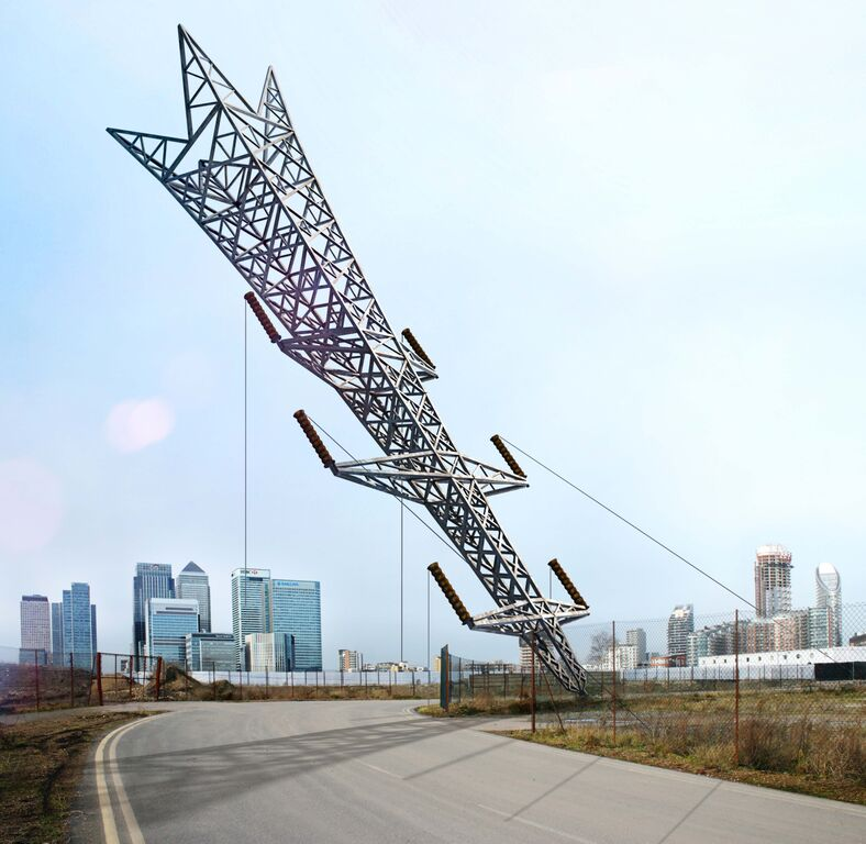 'A Bullet From A Shooting Star' by Alex Chinneck supported by Knight Dragon, image courtesy of the London Design Festival